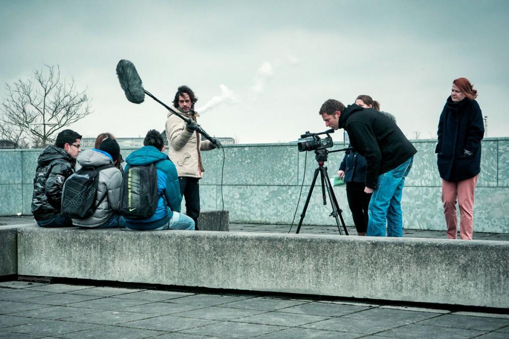 Filmopnames op het Bredero